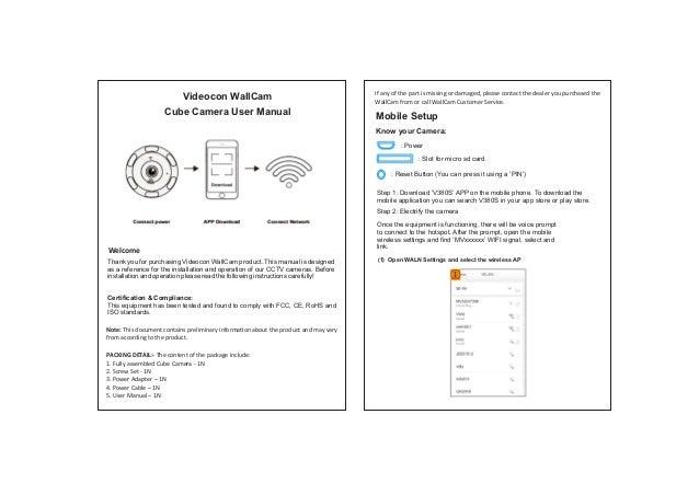 Wallcam cube cam installation manual