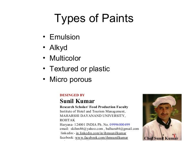 Types Of Wall Paints Ppt W Wall Decal