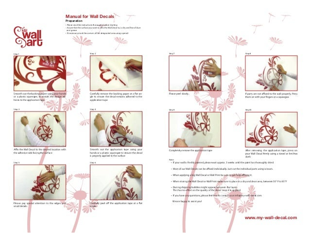Manual For Wall Decals Preparation .
