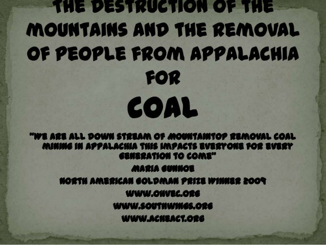 """We are all down stream of Mountaintop Removal coal  mining in Appalachia this impacts everyone for every                 ..."