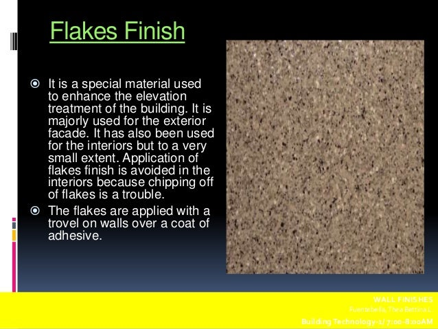 19  Flakes Finish  Wall finishes. Exterior Wall Finishing Materials. Home Design Ideas