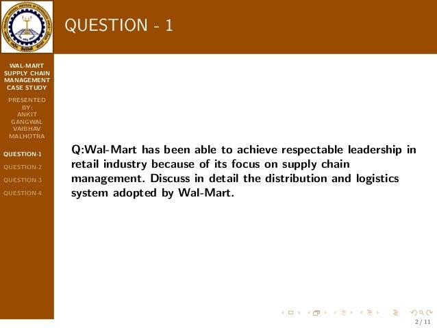 walmart supply chain management analysis