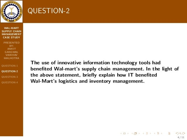 Wal-Mart's Supply Chain Management Practices