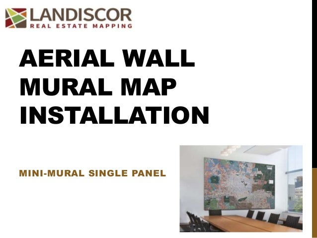 AERIAL WALL MURAL MAP INSTALLATION MINI-MURAL SINGLE PANEL