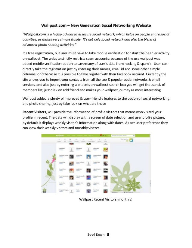 """Wallpost.com – New Generation Social Networking Website""""Wallpost.com is a highly advanced & secure social network, which h..."""