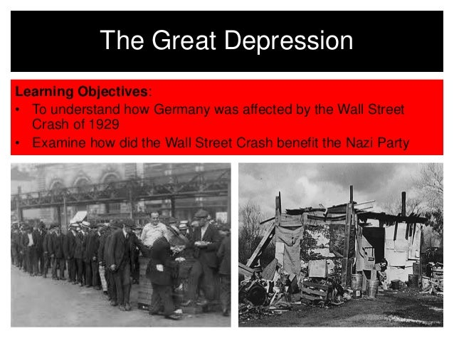 impact of the great depression and Picturing the century introduction a new century the great war and the new era the great depression and  to lessen the impact of the great depression in the.