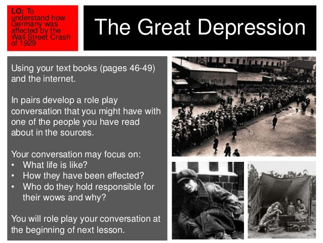 essay on the great depression in germany The depression ( causes and effects) - download as word doc (doc), pdf file (pdf), text file (txt) or read online.