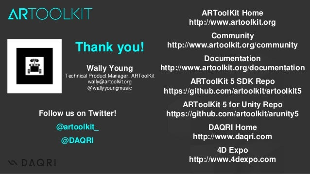 Wally Young (DAQRI) The Path to ARToolKit 6