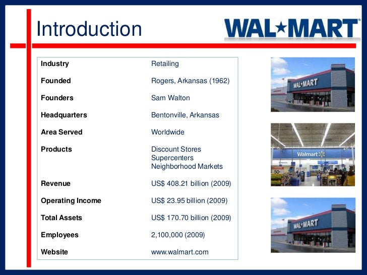 an evaluation of the business strategies of wal mart a discount retailer