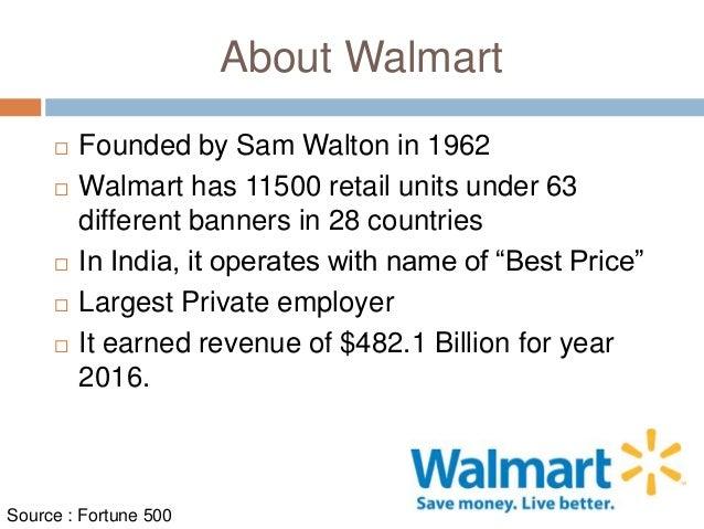 Walmart: Operations Management 10 Decisions, Productivity