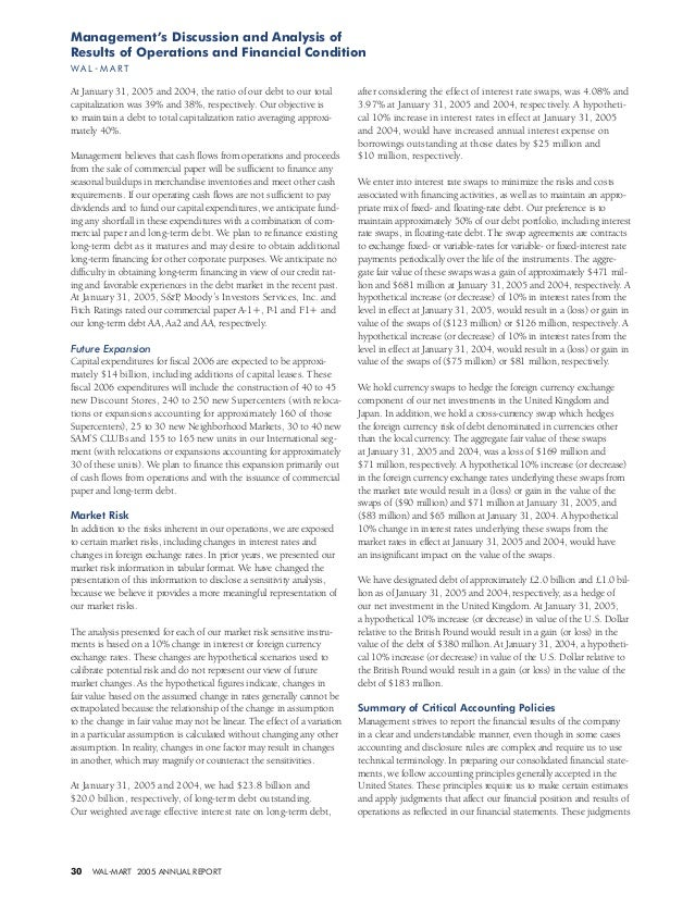 walmart annual report analysis Essay financial analysis of walmart and 90,000+ more term papers written by professionals and your peers home custom writing  wal-mart annual report (2013) .