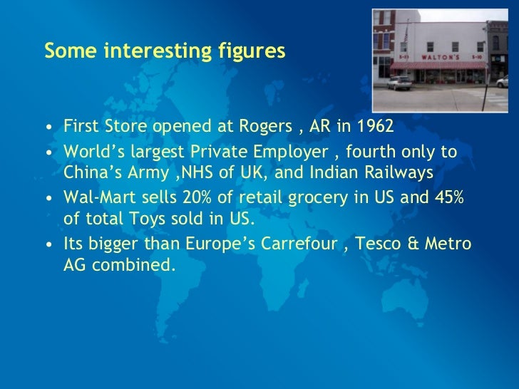 walmart international market expansion Walmart's downfall in germany: a case study by: phoebe jui in 1997, wal-mart had entered in the german retail market through acquiring the failing german.