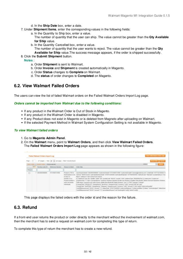 Walmart Magento Integration User Guide - CedCommerce