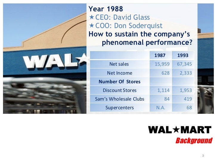 the walmart case study Intended as a teaching tool, the walmart sustainability case project analyzes the  range of issues the world's largest retailer experienced in.