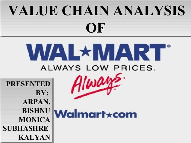 Value Chain Management of Walmart
