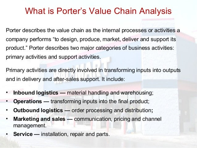 wal mart value chain analysis