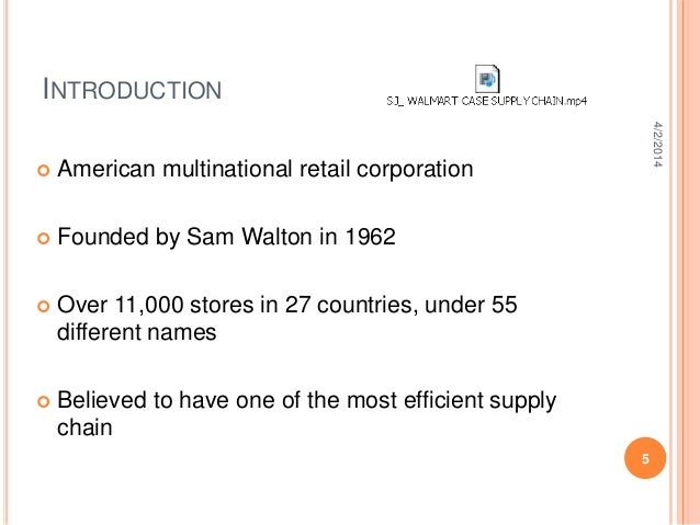 benefits derived by wal mart from efficient supply chain management An integrated supply chain allows manufacturers to look into business processes across multiple suppliers and across disparate platforms to follow materials and components wherever they are -- expanding traditional supply chain management beyond tracking materials, information, and finances as.