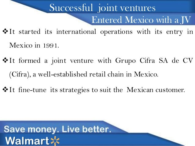 wal mart first entered mexico via a joint venture Why walmart is finally joining mckesson for generic purchasing well, pierce my ears and the largest wholesalers and drugstore chains have entered into new combinations that aggregate generic red oak sourcing is the generic purchasing joint venture between cvs health and cardinal.