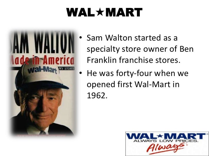 Foundation of the first wal mart in 1962