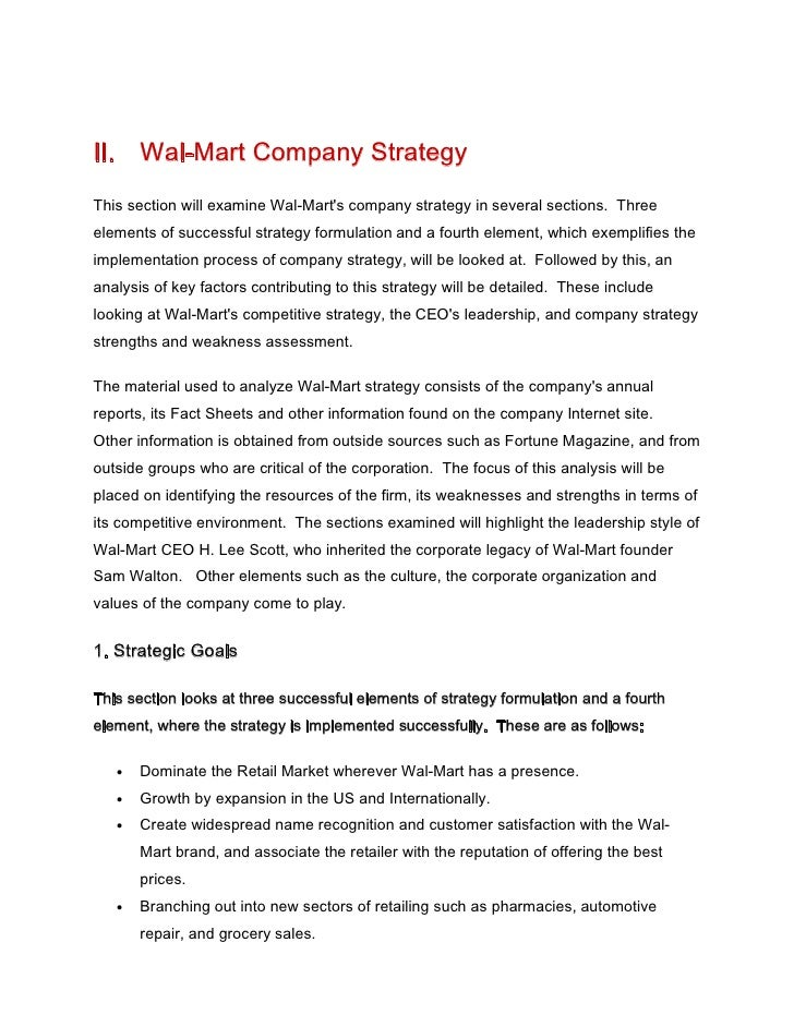 case study 1 wal mart's foreign expansion