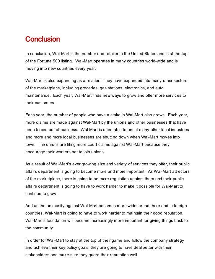 walmart conclusion essay