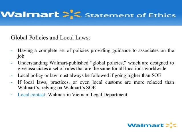 "describe procedures walmart has in place to ensure ethical behavior And appears on the ""list of the world's 100 most ethical  procedures that pepsico has in place to ensure ethical behavior  walmart ethics and."