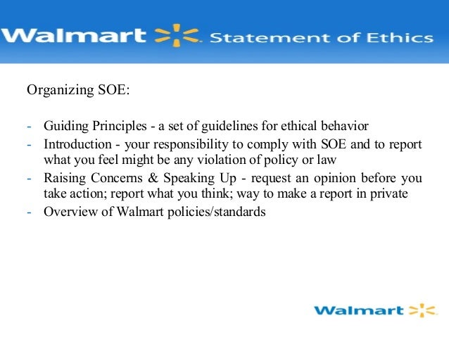 Wal Mart, Ethical Issue