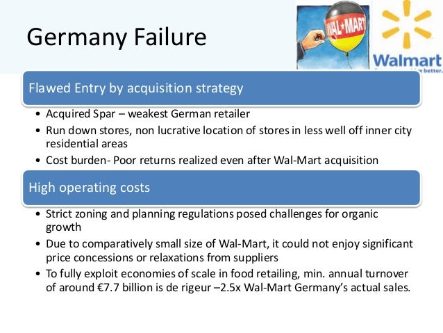 why walmart is failed in germany Walmart, the most successful retail operation in the us, failed to make even a  dent in the largest and most vibrant european economy.