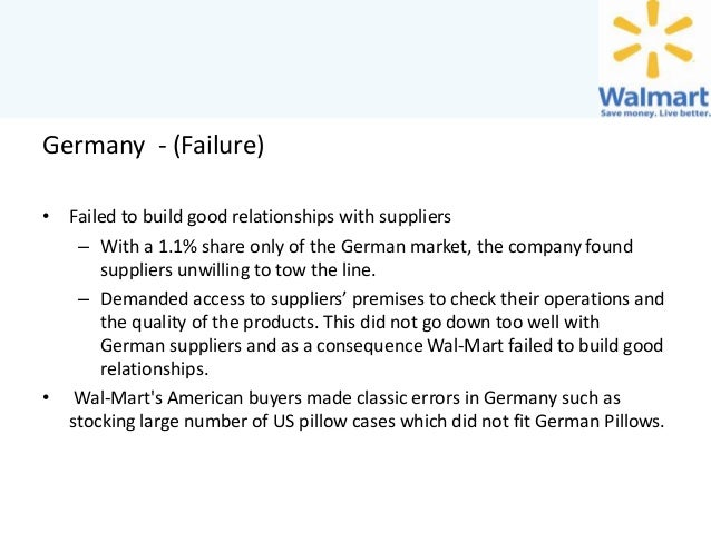 walmart failure in germany Search the world's information, including webpages, images, videos and more google has many special features to help you find exactly what you're looking for.