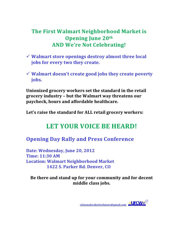 The First Walmart Neighborhood Market is                            Opening June 20th                     ...