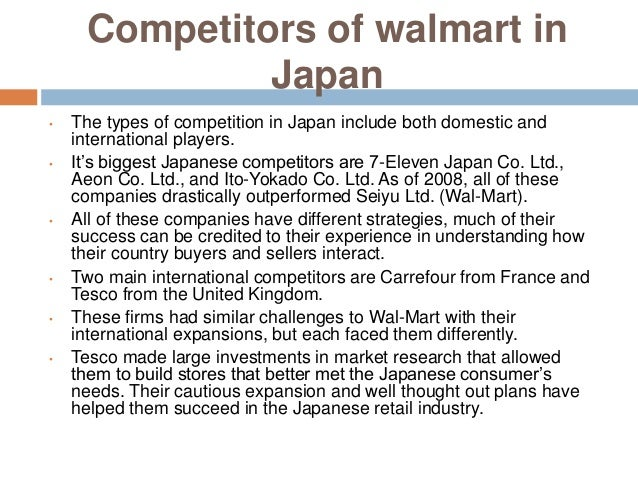 the low prices strategy as a huge factor in the success of wal mart Retail internationalization suggest that retailers favor low risk entry strategies,   failures of big three global retailers, wal-mart, carrefour, and tesco (deloitte,  2009) in determining factors which increased the likelihood of failure, this paper  provides  conflict with the success wal-mart has experience in the domestic  market.