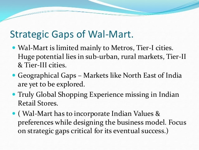 wal mart and its urban expansion strategy A grist special series walmart's environmentalism also had strong appeal among urban liberals in the for walmart, sustainability is a growth strategy.