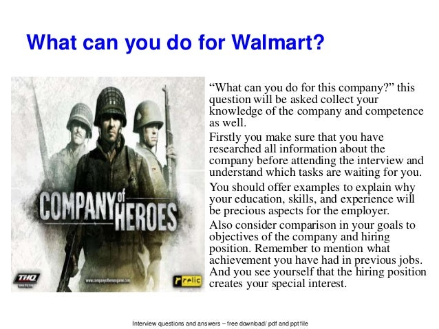Top 10 Walmart Interview Questions And Answers Pdf Ebook Free Downlo