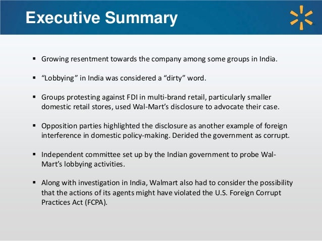 political legal for wal mart Political risk is the risk an investment's returns could suffer as a result of political changes or instability in a country instability affecting investment returns could stem from a change in.