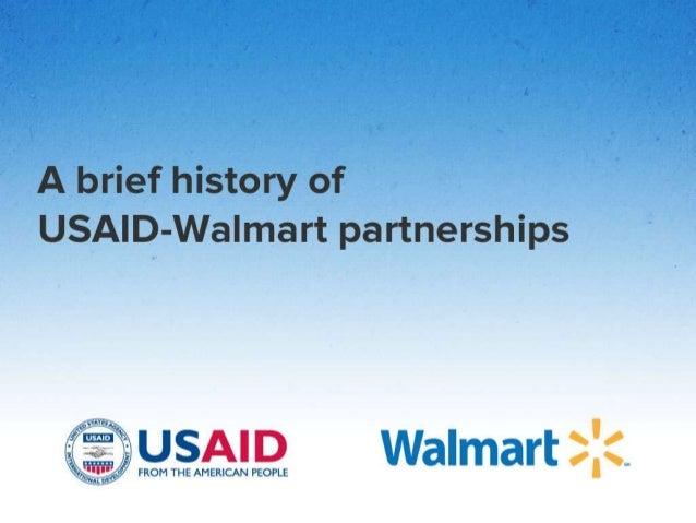 A brief history of USAID-Walmart partnerships
