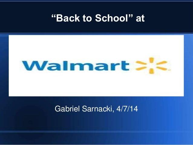 """Back to School"" at Gabriel Sarnacki, 4/7/14"