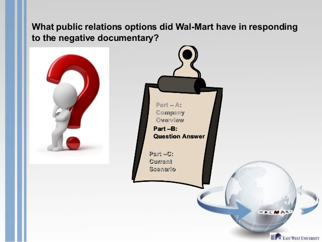 Walmart response on negative documentary