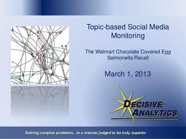 Topic-based Social Media                                       Monitoring                               The Walmart Chocol...