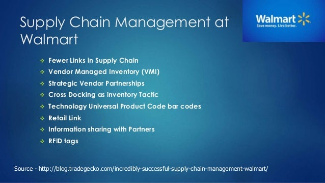 Supply Chain Management Walmart