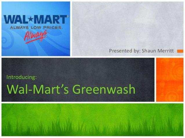 walmart greenwashing