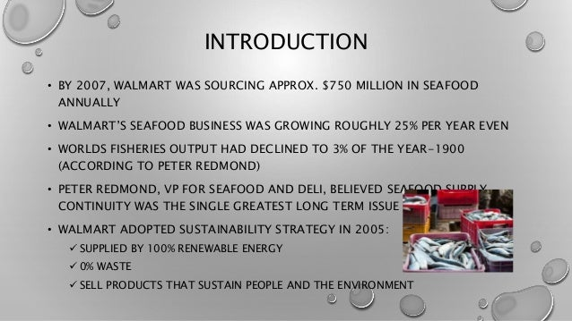 walmart sustainability strategy c inventory management seafood You are here faculty & research case studies wal-mart's sustainability strategy (c): inventory management in the seafood supply chain.