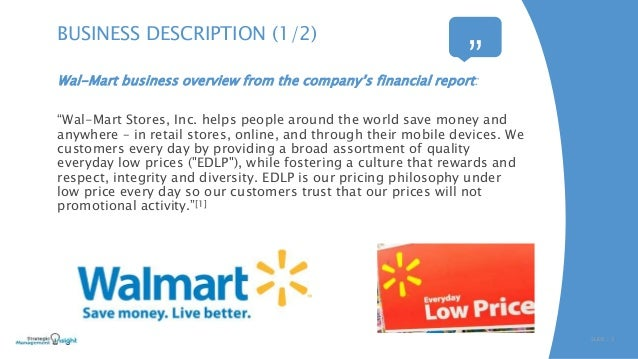 Walmart business report