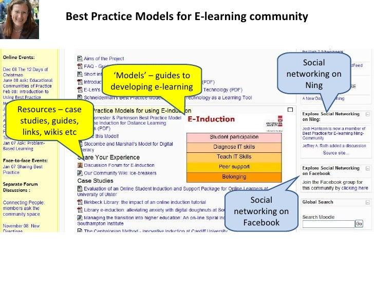 Best Practice Models for E-learning community Slide 2