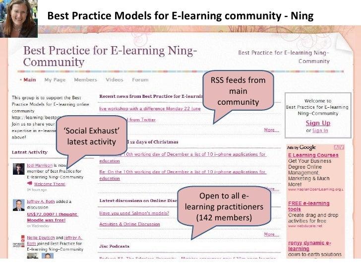 Best Practice Models for E-learning community Slide 3