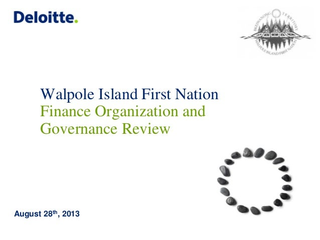 Walpole Island First Nation Finance Organization and Governance Review August 28th, 2013