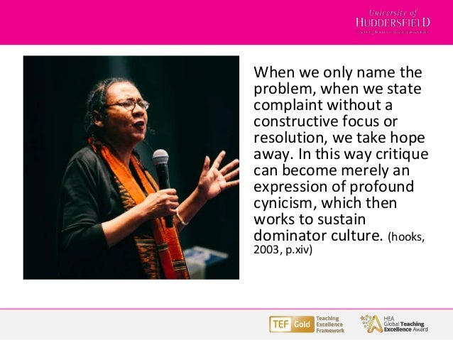 When we only name the problem, when we state complaint without a constructive focus or resolution, we take hope away. In t...