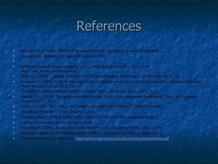 forensic nursing research topics