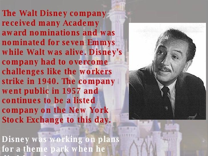 walt disney biography summary