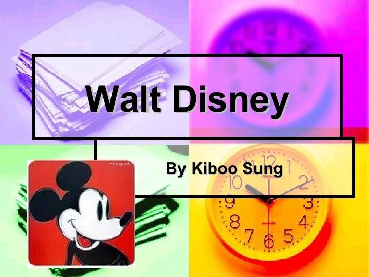 Walt Disney By Kiboo Sung