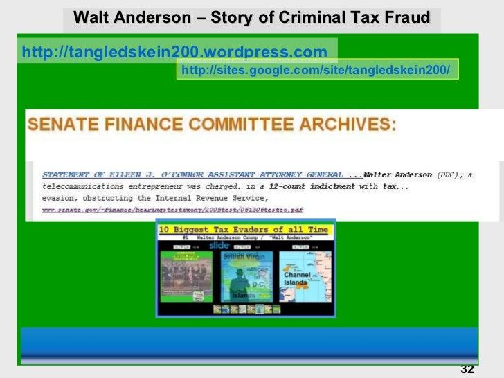 walter anderson tax evasion